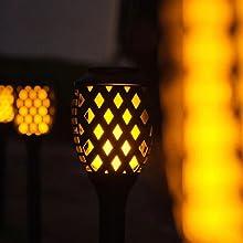 Flame solar torch light4