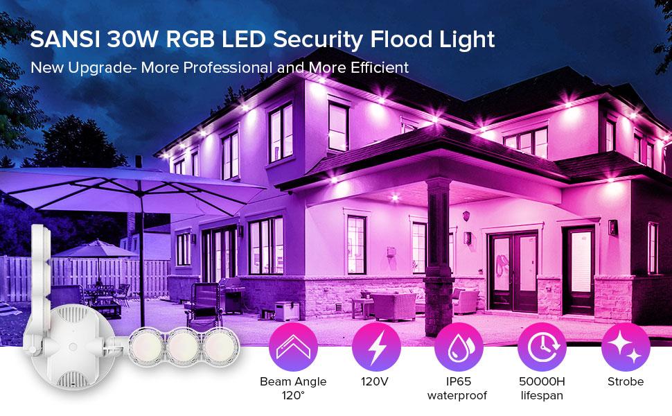 30W RGB LED Security Light