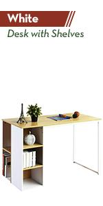 Storage Computer Desk White Desk