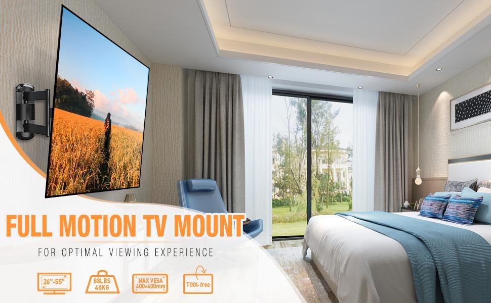 Fu'll motiion TV mount for 26-55'' TV