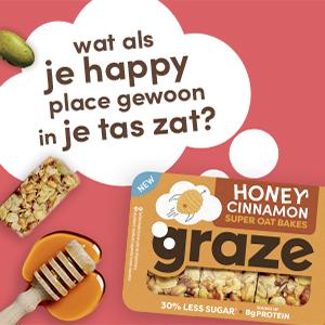 graze honey cinnamon super oat bakes, havermoutrepen met honing en kaneel