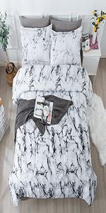 Litanika white marble comforter