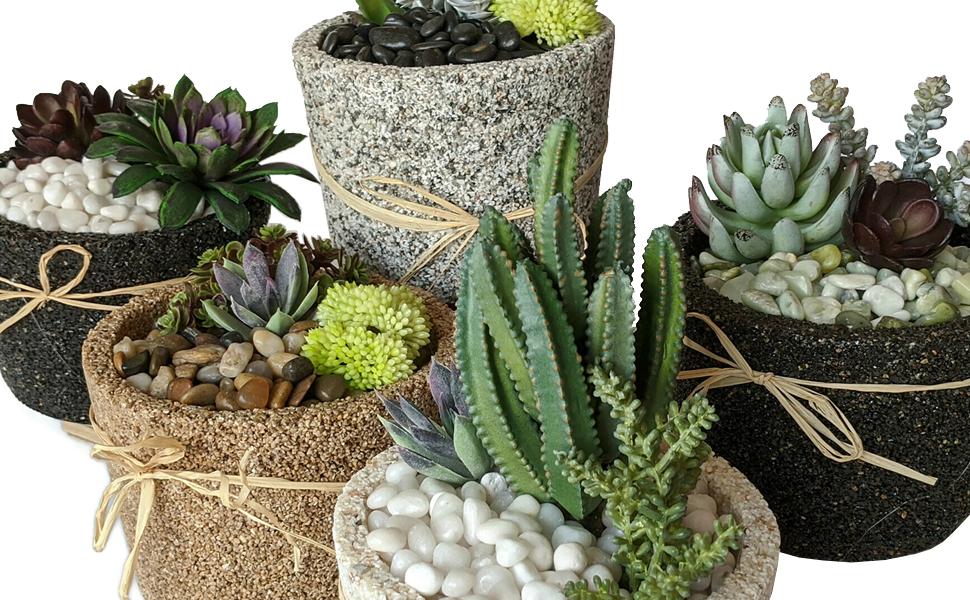 Midwest Hearth Decorative Pebbles Succulent Cactus Fairy Garden