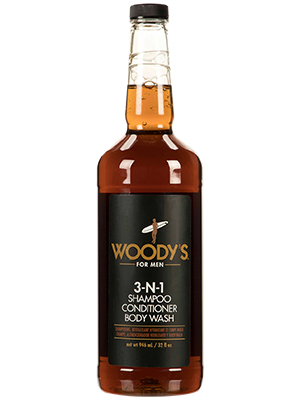 Woodys 3-in-1 Shampoo Conditioner amp; Body Wash