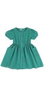 toddler girl green dress