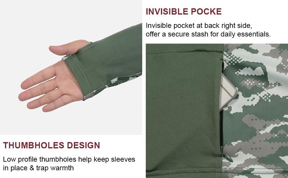 Thumbholes & Invisible pocket