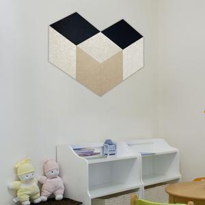 Rhombus acoustic panels for kid's room