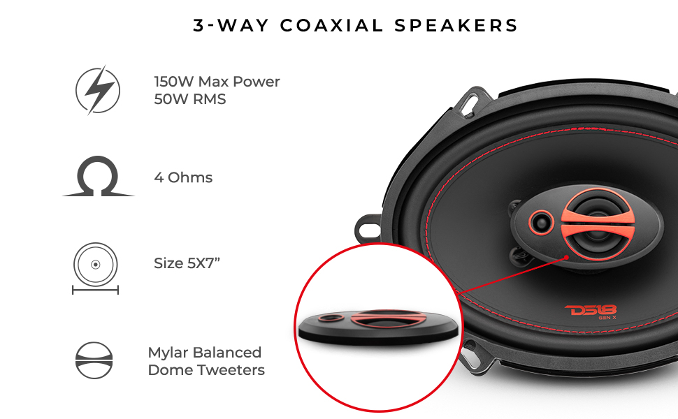Coaxial car audio speaker