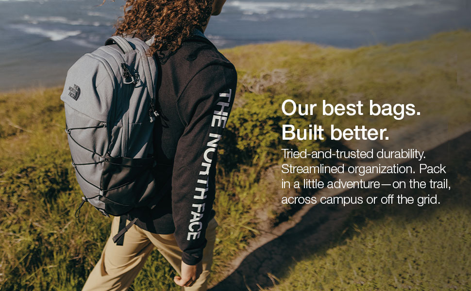 Pack up and get outdoors with trusted durability and organization for the trail or campus.