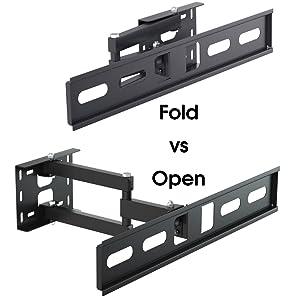 L273A L273S L273M tv wall bracket fold vs open