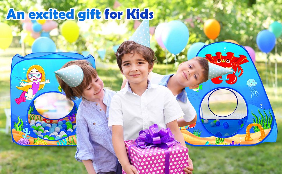 An excited gift for kids