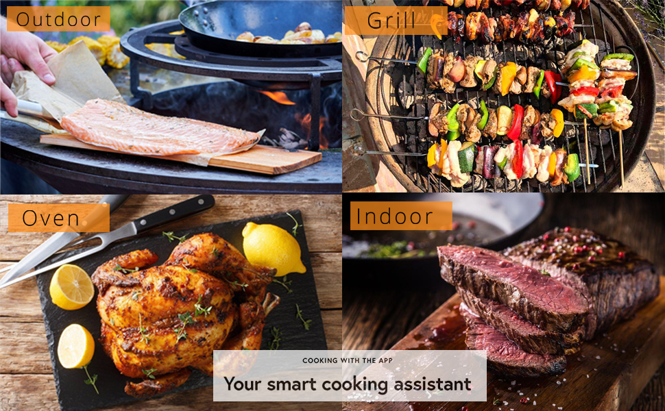 bbq thermometer cooking meat kitchen grill oven smoker barbecue steak heat