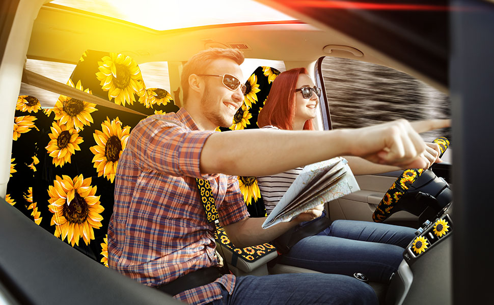 sunflower coasters for car