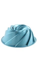 Novelty Swirl Bundt Pan-Blue