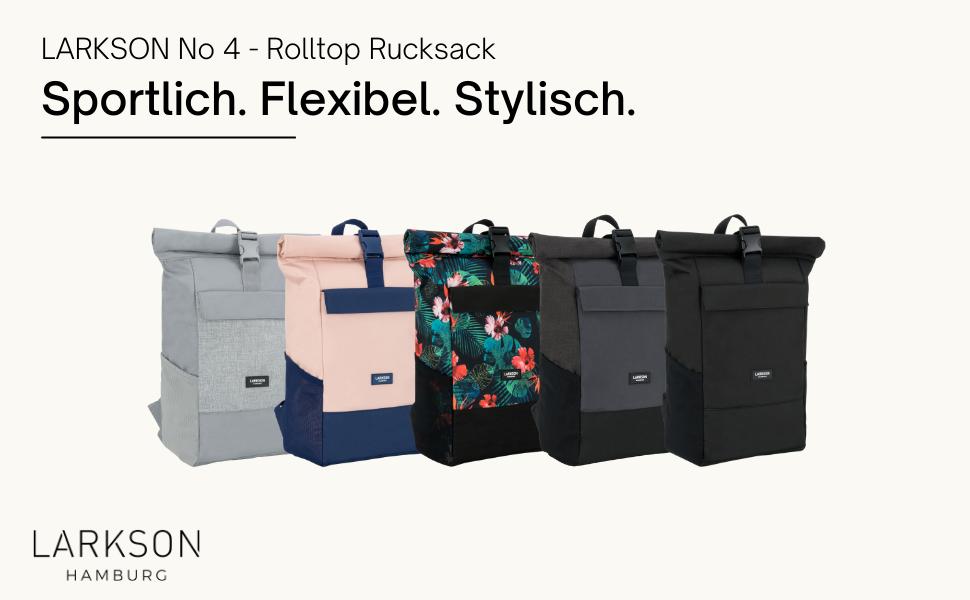 Larkson No 4 Rolltop Rucksack für Damen und Herren