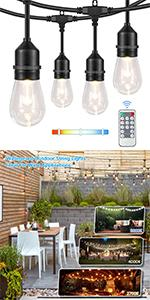 3 in 1 Outdoor String Lights with Remote