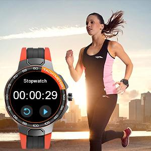 smartwatch with stopwatch