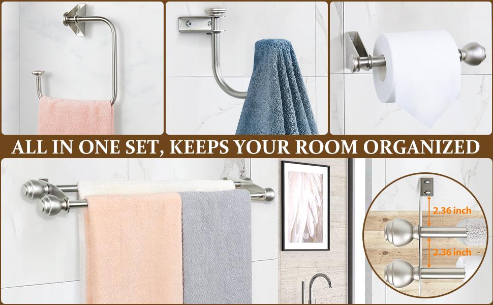 Bathroom Accessories Towel Rack Set Bathroom Hardware Set