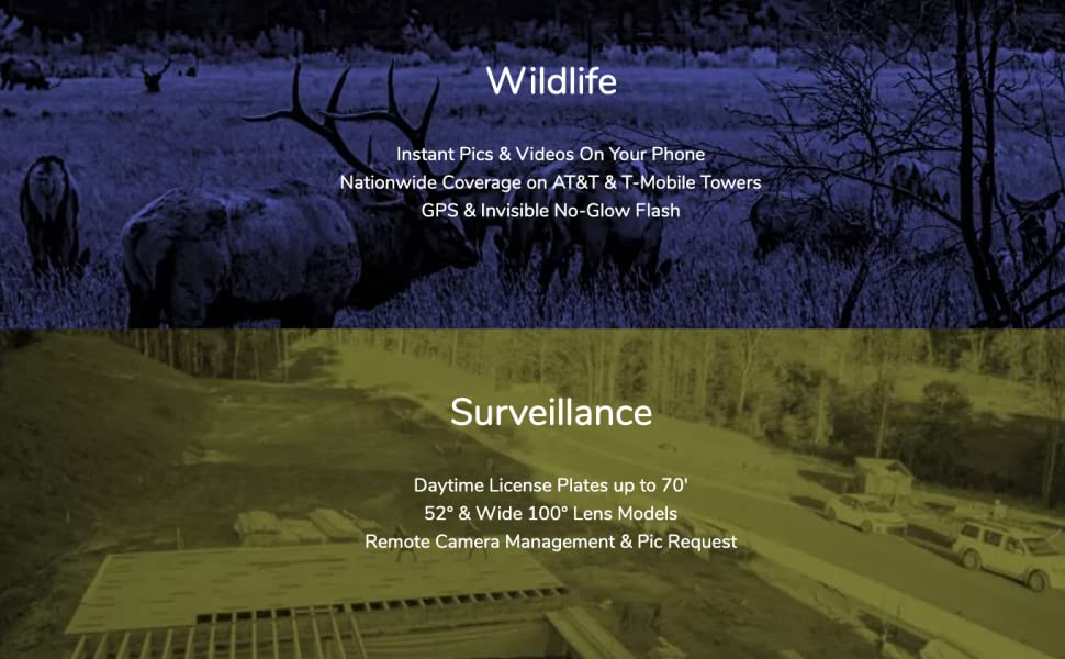 Camera For Wildlife and Surveillance wide angle at&t t-mobile gps black invisible flash app phone