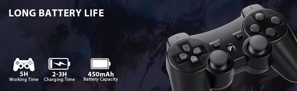 Long Battery Life of PS3 Controller