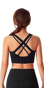Criss Cross Sports Bras for Women High Impact