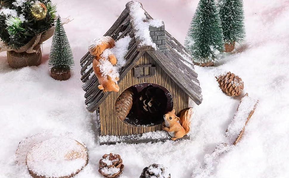 Squirrel House Statue
