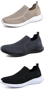 Men walking slip on sneakers
