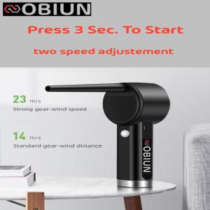 oBiun Air Duster Un Appuie de 3 sec pour la mise en route et 2 vitesses