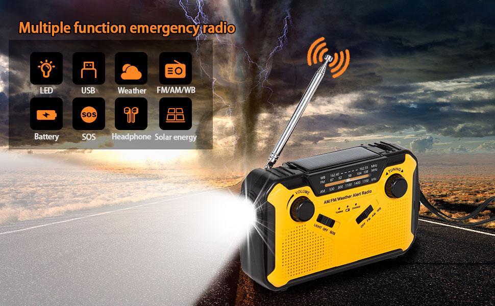 Emergency weather radio