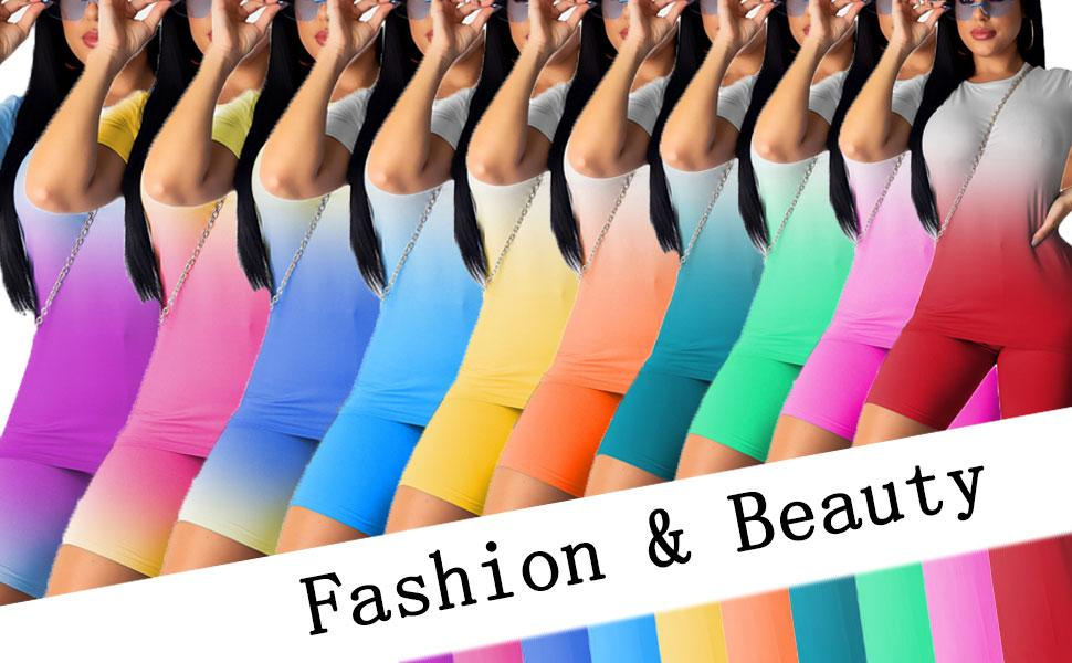 Nimsruc Women's 2 Piece Outfits Summer