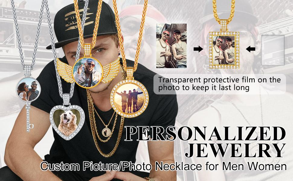 Custom Picture/Photo Necklace for Men Women