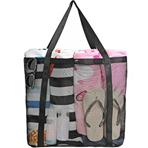 large mesh tote bag