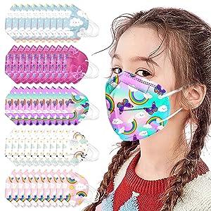50Packs 3D Kids Disposable_Face_Masks