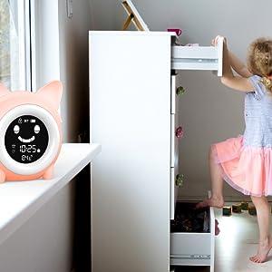 ok to wake clock kids digital  alarm clock toddler alarm clock  cute clock for kids