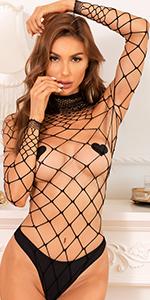 Women Fishnet Bodysuit