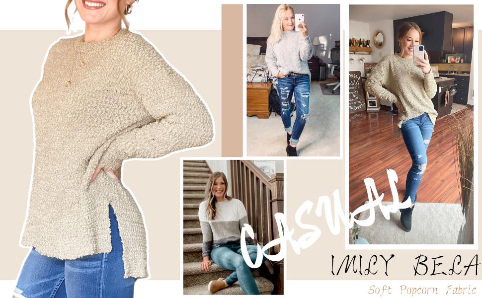 Imily Bela Womens Sherpa Sweaters