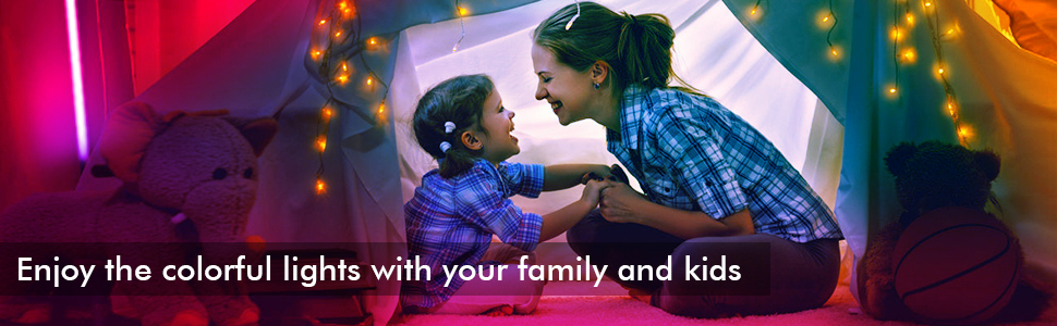 Enjoy the colorful lights with your family and kids