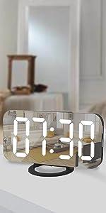 digiatl alrm clock for bedroom black