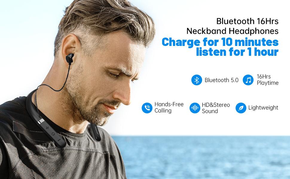 padmate wireless earbuds neckband