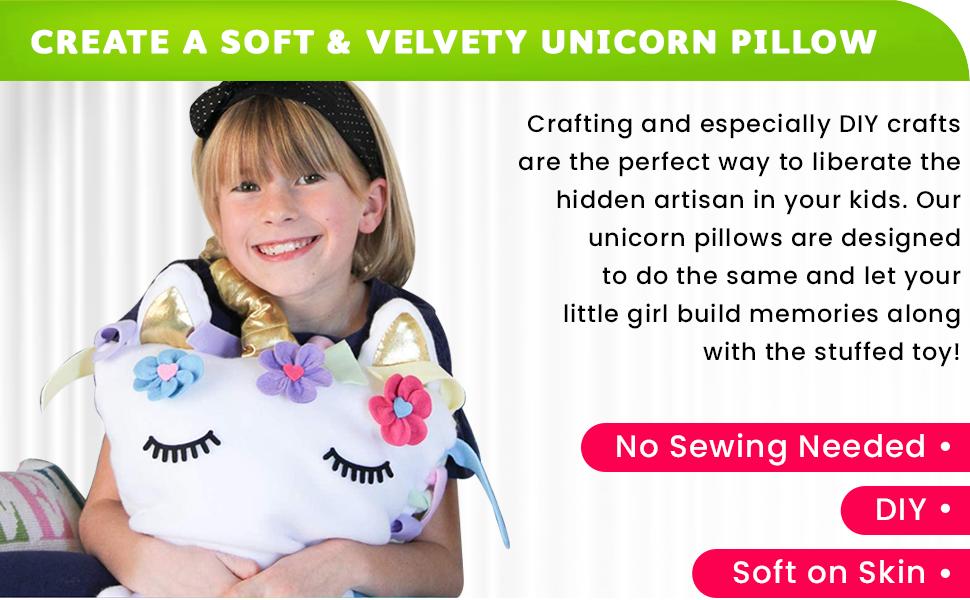 Pinhweel Crafts Unicorn Pillow Kit