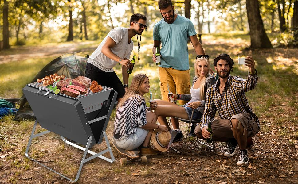 charcoal grill portable with suitcase