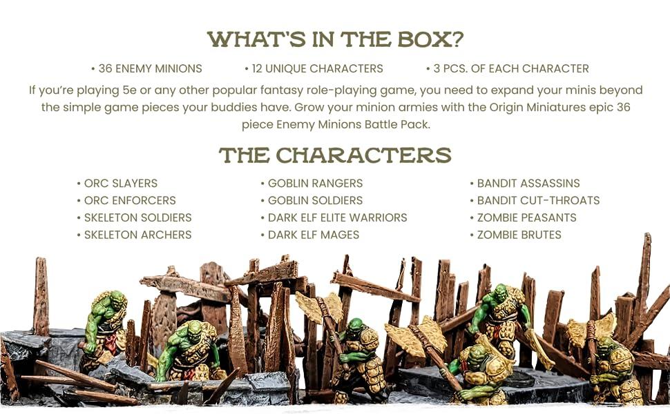 Origin Miniatures Mini toys collectables piece sets board games fantasy resin minis