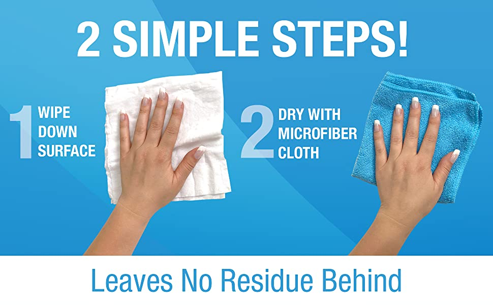simple cleaning, supplies, home, wipe down surface, dry with microfiber