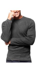 men's waffle waffled thermal long sleeve sleeves shirt shirts