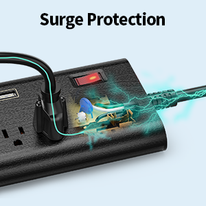 power strip surge protector with usb