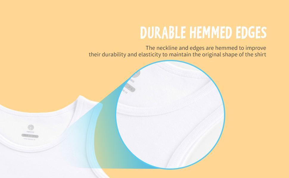durable hemmed edges