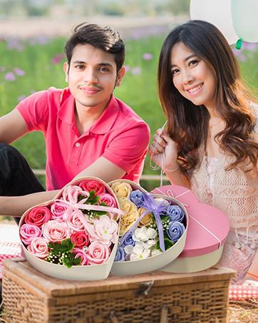Geschenke für sie konservierte echte Rose Schublade Ewige handgemachte konservierte Rose