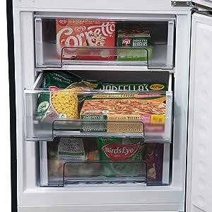 close up freezer