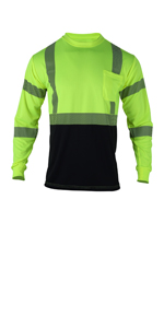 yellow safety  long sleeve shirt