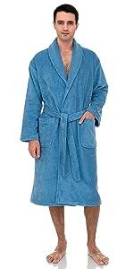 TowelSelections Mens Robe, Turkish Cotton Luxury Terry Shawl Bathrobe